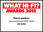 "ATC SCM 11 - What Hi Fi? Sound and Vision Awards 2015 - ""Best standmounter £800-£1500"""