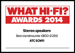 ATC - What Hi-Fi Awards 2013 - Best standmounter £800-£1500