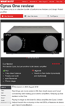 CYRUS ONE - What Hi-Fi review